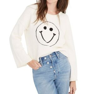 Madewell Brownstone Smiley Face Pullover XL
